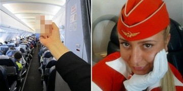 Russian flight attendant fired for 'funny' photo