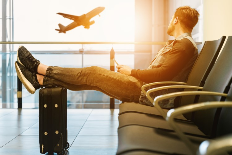 Put your feet up if your flight is delayed